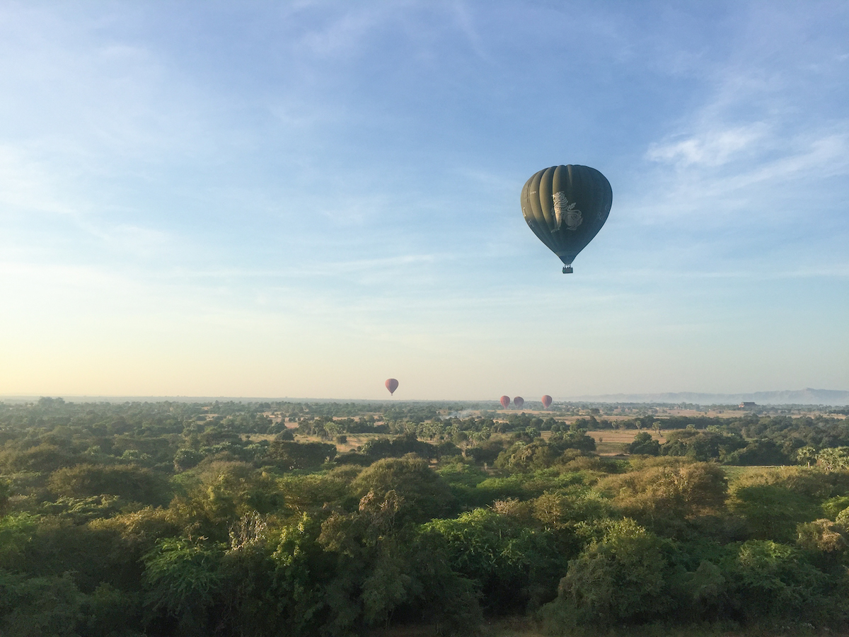 Hot Air Balloon Ride in Bagan, Myanmar