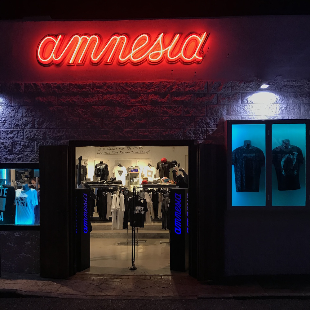 The Gift Shop at Amnesia Nightclub in Ibiza