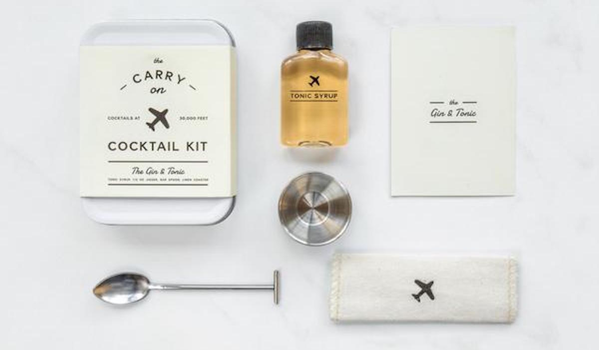 Travel Gift Idea Carry On Cocktail Kit