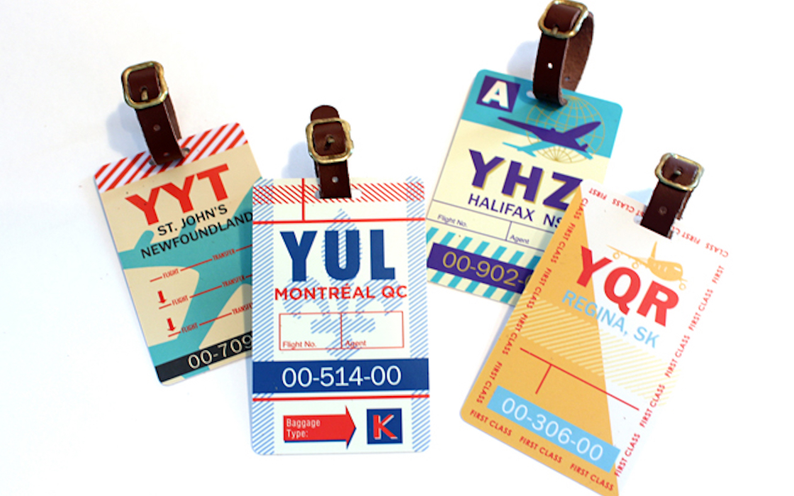 Vintage Modern Luggage Tags