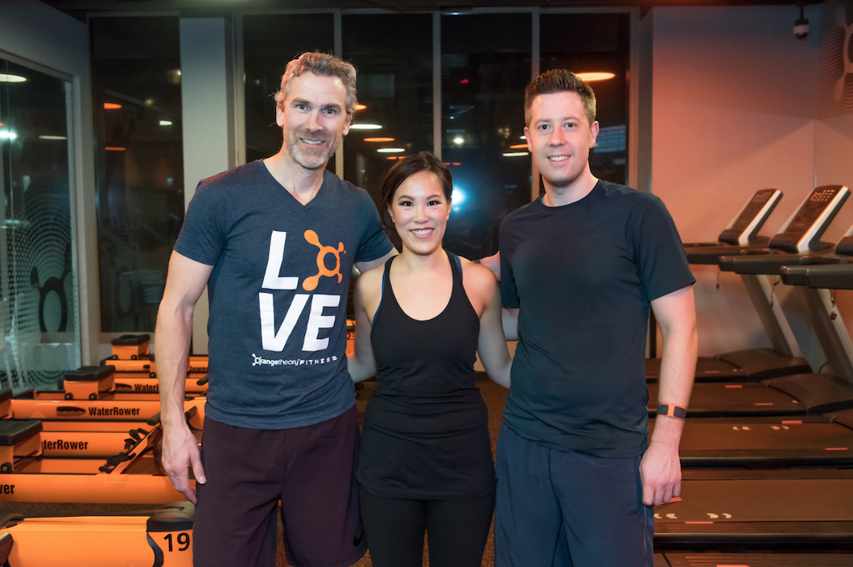 With Trevor Linden at OrangeTheory Fitness.