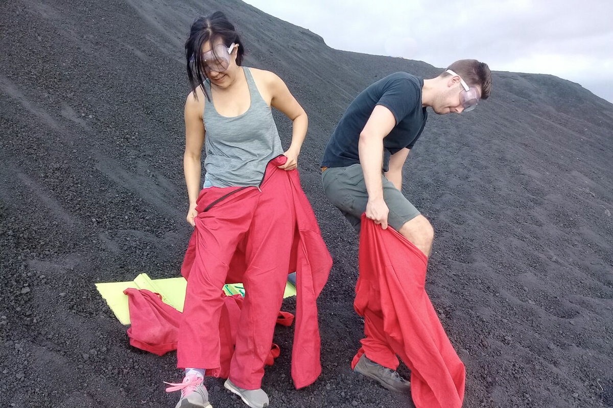 Cerro Negro Volano Boarding Jumpsuits and Equipment
