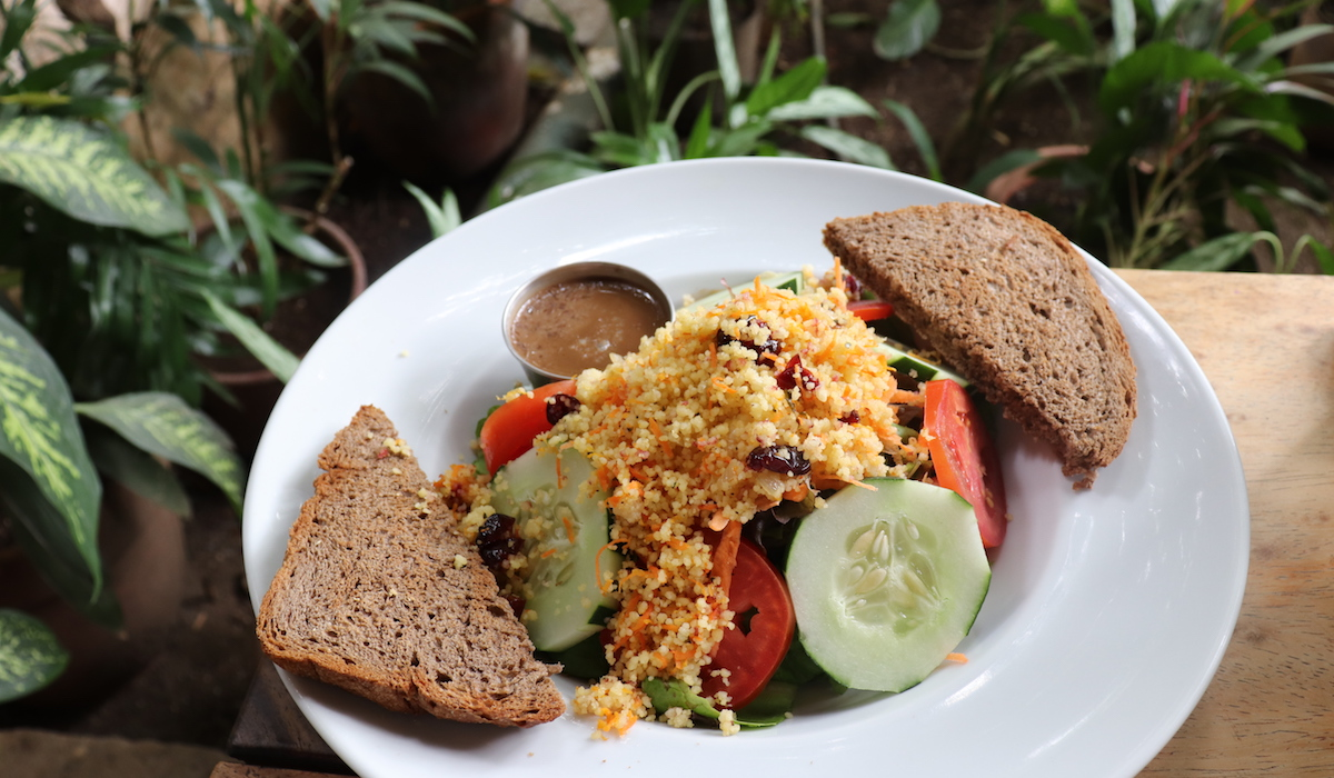 Garden Salad with Cous Cous from The Garden Cafe in Granada Nicaragua