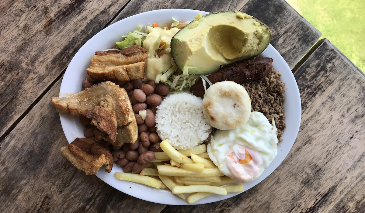 Bandeja Paisa Typical Dish in Colombia Medellin