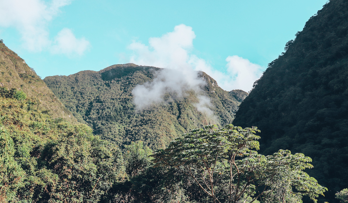 Machu Picchu is on the OTHER side of this giant mountain.