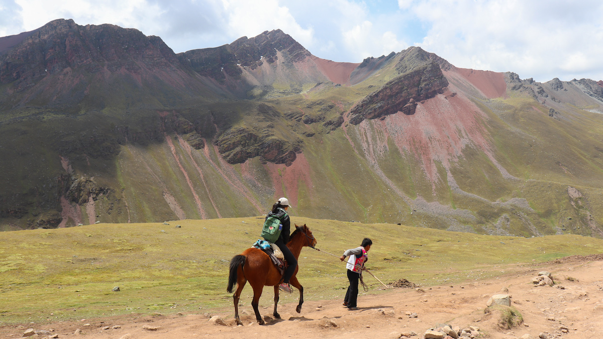 Rainbow Mountain by Horseback