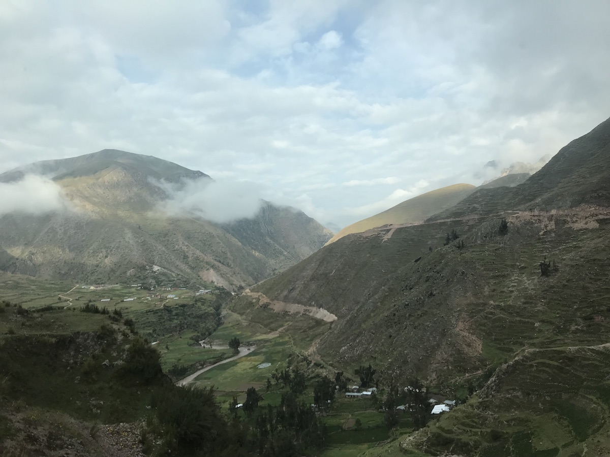 View from the Ride from Cusco to Rainbow Mountain