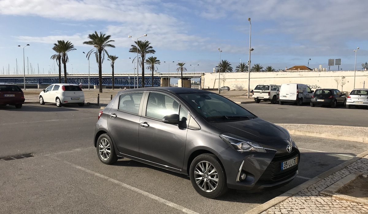 car rental portugal roadtrip algarves toyota yaris