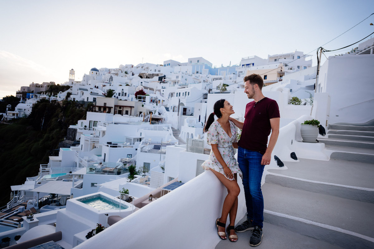 Our Santorini Photoshoot in Imerovigli