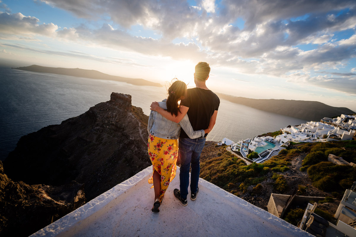 Santorini Sunset Photoshoot