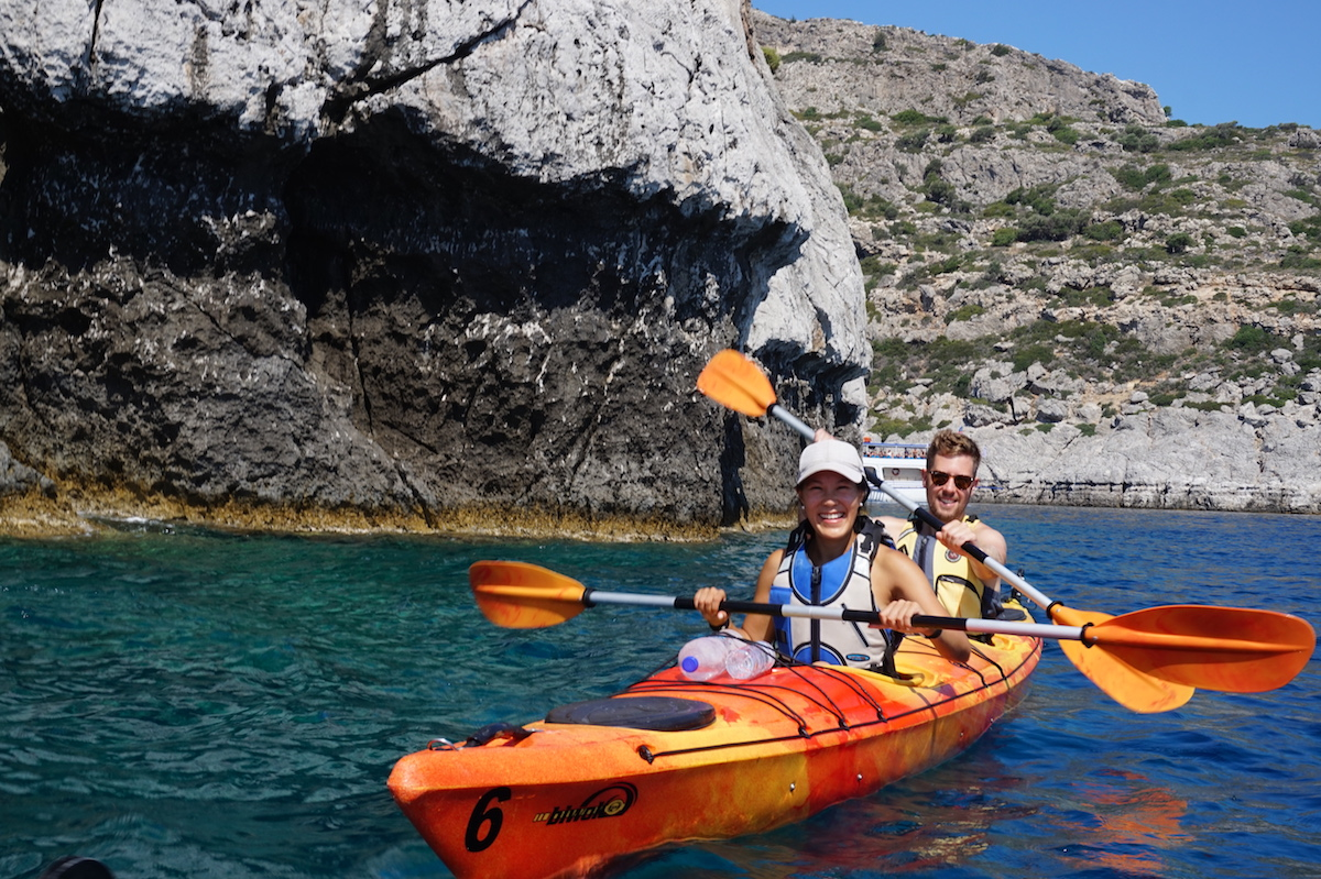 Sea Kayaking in Greece with Trekking Hellas Rhodes
