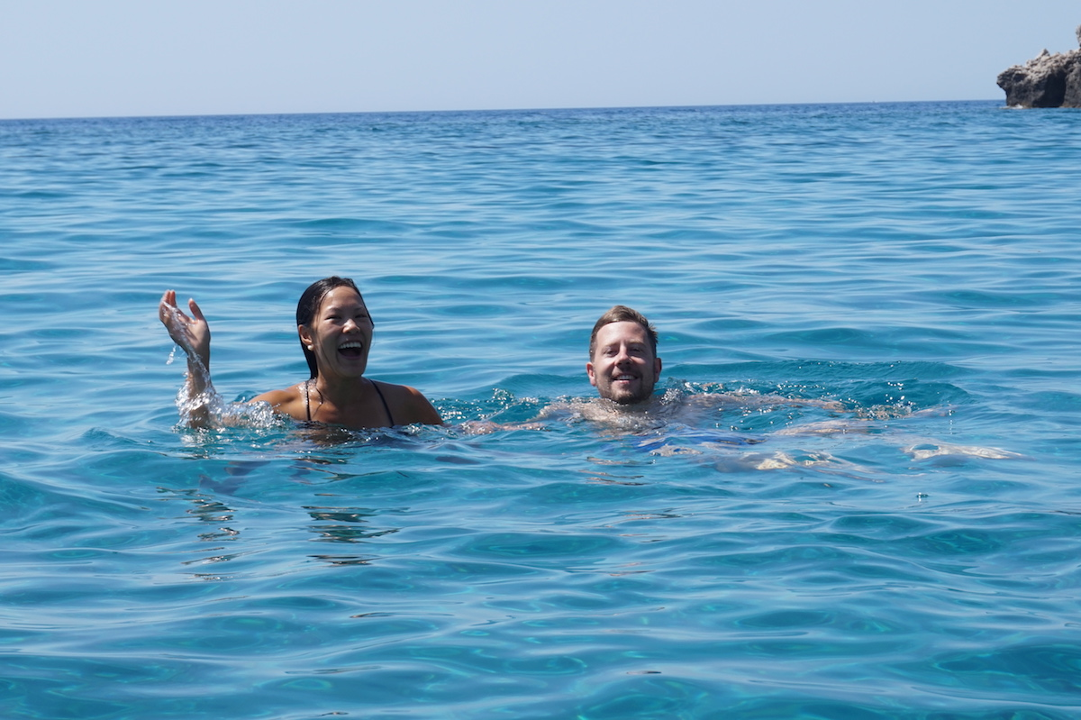 Swimming in Greece with Trekking Hellas Rhodes