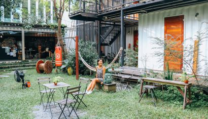 the yard hostel review Bangkok thailand
